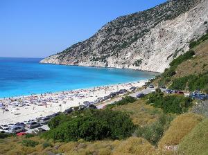 Kefalonija-plaža-Mirtos
