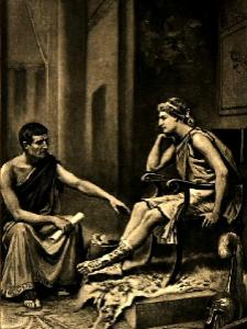 Aleksandar sa svojim učiteljem Aristotelom