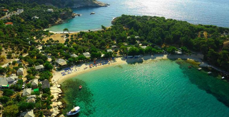 Iza fenomenalne plaže Aliki se nalazi i poznati arheološki lokalitet