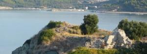 Pogled na ostatke starog grada