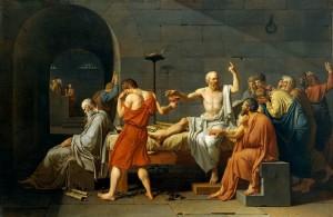 Smrt Sokratova, Jacques-Louis David (1787.)