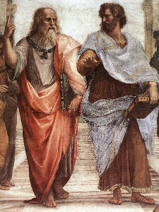 Platon (levo) i Aristotel (desno), Rafael