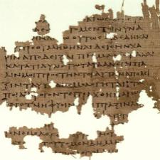 "Papirus Oxyrhynchus sa fragmentima Platonove ""Države"""