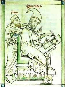 Platon i Sokrat, srednjevekovni prikaz