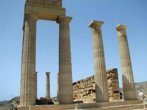 Ostaci hrama Atine Lindoske na Akropolju