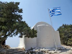 Crkva Agios Panteleimonas se nalazi unutar ruševina tvrđave