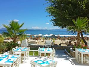 Na plaži postoji restoran i bar koji je jedan od najpopularnijih na celom Halkidikiju