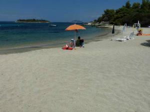 Peščana plaža ispred kampa Areti