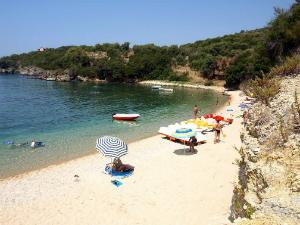 Krajnji desni deo plaže je najmanje posećen